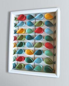 diy Orla Kiely inspired toilet paper roll art (Tutorial)
