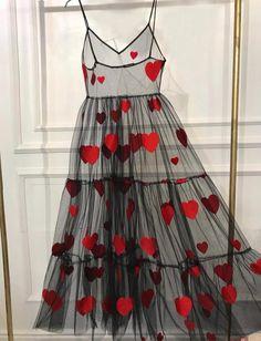 Wild heart dress in 2019 recycled clothing прозрачное платье Look Fashion, High Fashion, Womens Fashion, Fashion Tips, Fashion Design, Cute Dresses, Summer Dresses, Heart Dress, Looks Vintage