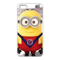 Custom Minion Tiburones Rojos Design 3D Printed Plastic Case for iPhone 5S USAHarry-00313 by USA Harry, http://www.amazon.com/dp/B00GAY6GG2/ref=cm_sw_r_pi_dp_JRHGsb0DJ4PAA