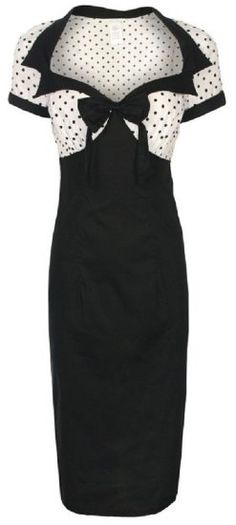 LINDY BOP CHIC VINTAGE 1950's STYLE BLACK PENCIL WIGGLE DRESS (20): Amazon.co.uk: Clothing