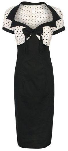 df17fcfa5f34 Cocktail Dresses - Lindy Bop  Laney  Chic Vintage Style Black Bengaline  Pencil Wiggle Dress - Plain and Simple Deals - no frills