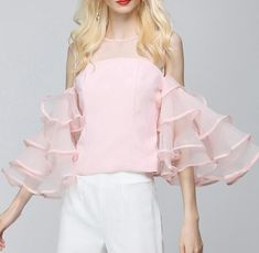 Summer Sexy Female T shirts For Women Tops Off Shoulder Flare Sleeve Ruffles Backless Top