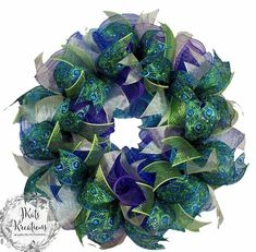 This deco mesh ruffle wreath tutorial video with 10 inch mesh shows how to make a mesh peacock wreath with ribbon. This is a very easy DIY deco mesh wreath to m… Ribbon Wreath Tutorial, Mesh Ribbon Wreaths, Deco Mesh Ribbon, Christmas Mesh Wreaths, Diy Ribbon, Deco Mesh Wreaths, Wired Ribbon, Deco Mesh Wreath Supplies, Yarn Wreaths