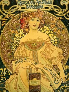 1900's Art Nouveau advertisement for chocolate