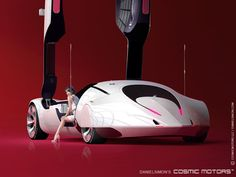 The larger 5000 coupe features a suitcase in the massive door frames.