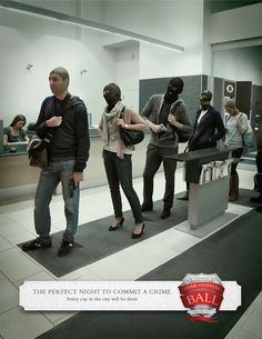 Crime Stoppers Ball  | #ads #marketing #creative #werbung #print #poster #advertising #campaign < repinned by www.BlickeDeeler.de | Have a look on www.Printwerbung-Hamburg.de