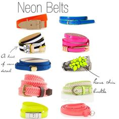 must have neon belts!!