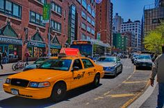 taxi anyone? by Brian Rome - busy street in new york city Click on the image to enlarge.