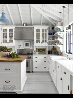Small White Cottage Kitchen charming new england beach bungalow | white cottage kitchens