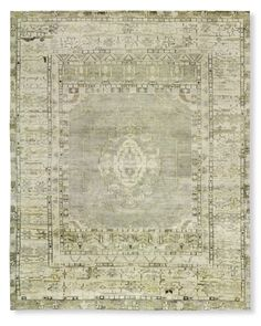 Hand-Knotted Lustrous Stone Rug | Williams-Sonoma