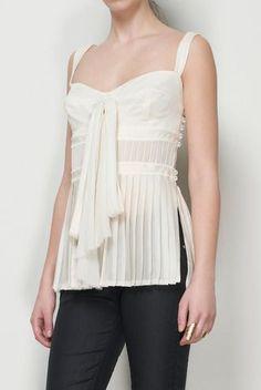 Tuleh Cream Chiffon Top.  women's fashion and street style.