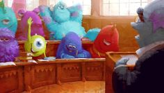 Monsters University Concept Art.  Mike looks so wide-eye(d).