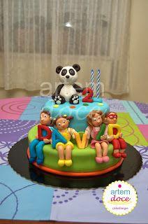 Artem Doce: Bolo do Panda e Caricas / Panda and Caricas cake