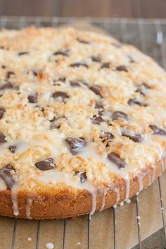 Chocolate Chunk Coconut Cake - Tracey's Culinary Adventures