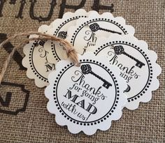 Printed Alice in Wonderland Inspired Mad Hatter Tea Party Baby Shower, Bridal Shower, Thank You for Going Mad With Us Tags