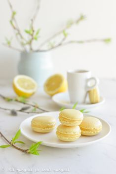 Lemon macarons/Sidrunimakroonid