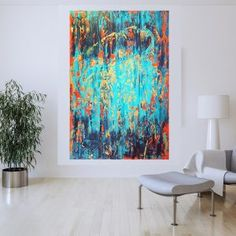 XXL Abstracts Archives - Ivana Olbricht Empty Wall, Abstract Landscape, Modern, Artwork, Painting, Trendy Tree, Work Of Art, Auguste Rodin Artwork, Painting Art