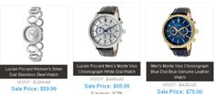 Elements Of Style: Lucien Piccard Watches Starting At $49.99 and Up To 82% Off + Free Shipping at http://www.casiosolarwatches.com/watch_promotions_and_discounts.html