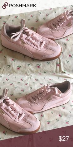 d281305efaa Puma Roma Light pink puma Roma s. There are light smudges around the  edges bottoms