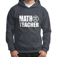 Math teacher Gildan Hoodie (on man)