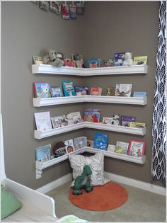 How About This Rain Gutter Bookshelf for Your Kids Room?