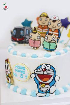 "Hong Kong's MTR ""Railyway Know It All"" Characters Doraemon & Dorami Birthday Cake & Cookies"