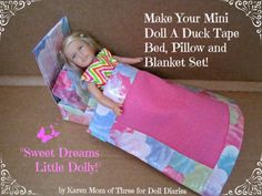 Time for some fashion for your mini doll's space. This could be adjusted to work with any size doll.Karen here and today I am sharing my Mini Doll Bed I made from Duck Tape Brand Duck Tape an…