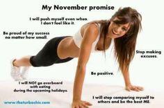 My November Promise...