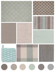 Color, Pattern, and Texture Inspiration! grey, beige, and aqua, cottage style
