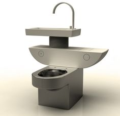 New Toilet Directs Soapy Sink Water into Flushes.