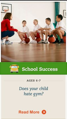 If your child dislikes gym class, try these steps to encourage participation. Click for details. #SchoolSuccess