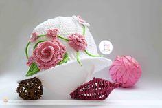 Girls summer hat-Girls sun hat with rose Girls Panama hat