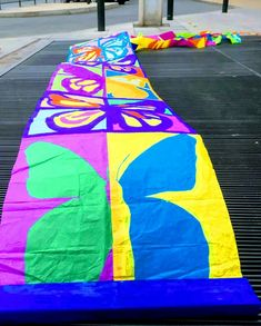 Beach Mat, Outdoor Blanket, Blue Prints