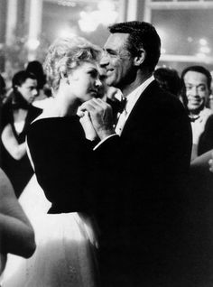 Kim Novak and Cary Grant.