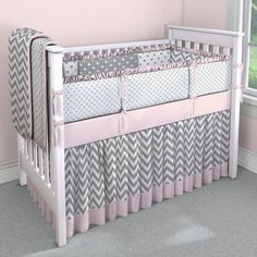 Chevron with Pink and Gray Custom | Carousel Designs