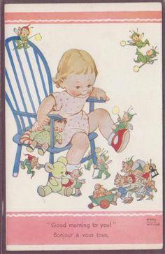 MABEL LUCIE ATTWELL GOOD MORNING FAIRIES PUB: VALENTINE | eBay