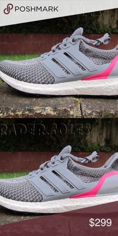 NEW WOMENS ADIDAS ULTRABOOST 2.0 GREY PINK 9.5, 10 100% Authentic and Brand New  Never worn  Includes original box  Winner chooses between 9.5 or 10 adidas Shoes Sneakers