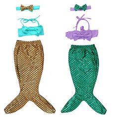 Kids Baby Girls Little Mermaid Bikini Set Swimwear Costume Swimsuit Bathing Suit - http://clothing.goshoppins.com/baby-toddler/kids-baby-girls-little-mermaid-bikini-set-swimwear-costume-swimsuit-bathing-suit/