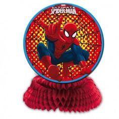 centro decorativo fiesta spiderman