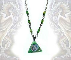The Dragon  necklace fantasy art jewellery metal pendant