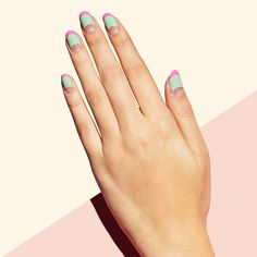 Dreamy, feminine pastels will have you feeling flirty for the long weekend ahead. Try our lollipop-inspired Triple Threat design. #paintboxmani #nailart #nails