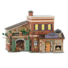 Department 56 Snow Village Grapevine Winery Light-Up Figurine Christmas In The City, A Christmas Story, Christmas Stuff, Christmas Ideas, Christmas Crafts, Christmas Decorations, Department 56, Menorah, Westminster