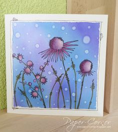 Pretty card, but written in German. Fairly easy to figure out. Card Making Inspiration, Making Ideas, Shadow Painting, Lavinia Stamps, Watercolor Cards, Copics, Copic Markers, Cool Cards, Flower Cards