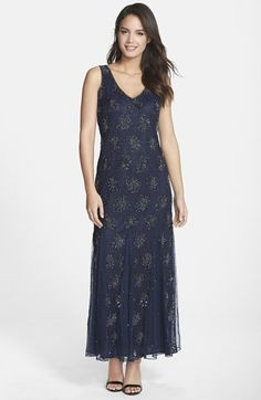 6c231c44451 Free shipping and returns on Pisarro Nights Embellished Lace V-Neck Gown at  Nordstrom.