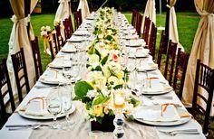 décoration table mariage en plein-air sous chapiteau
