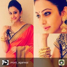 Actress Rakulpreet looking ethereal in our creation.