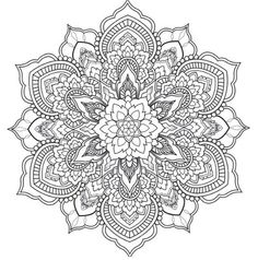 Best Printable Mandala Coloring Pages - Printable Coloring Pages To Print Mandala Art, Mandala Drawing, Mandala Pattern, Zentangle Patterns, Mandala Tattoo, Mandala Coloring Pages, Coloring Book Pages, Trippy Drawings, Printable Coloring