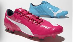 3a61ff33e66aed Puma evoPOWER Tricks 2014 World Cup Boots released. The new Puma evoPOWER  2014 World Cup Soccer Cleats will be released in pink for the right shoe  and ...