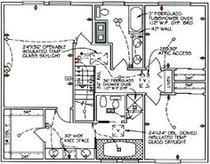 home electrical wiring diagram blueprint our cabin home Electrical Diagram Symbols house electrical design layout elec eng world