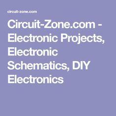 Simple Hobby Electronic Circuits - Electronic Circuit Projects ...
